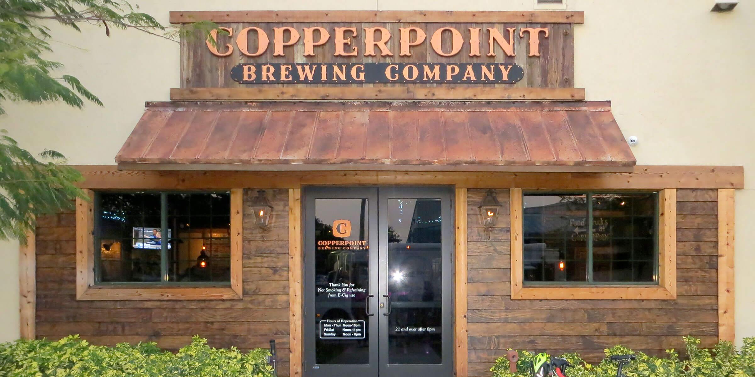 Color anomoly. Boynton Beach FL Copperpoint Brewing Company  beer coaster