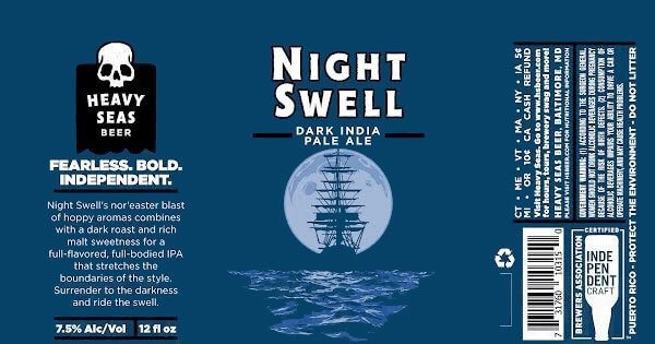 Label art for the Night Swell by Heavy Seas Beer