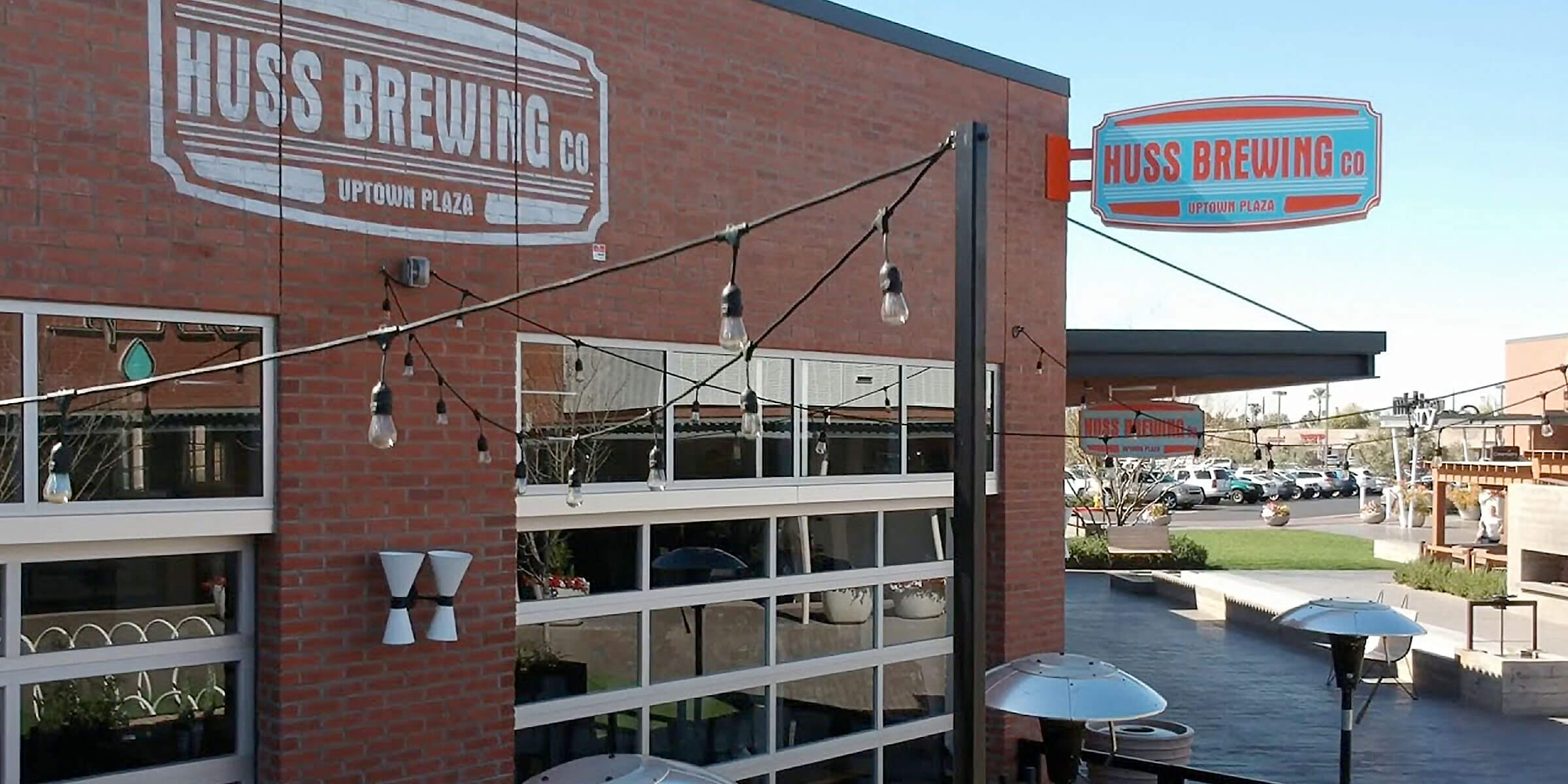 Outside the Huss Brewing Co. taproom in Phoenix, Arizona
