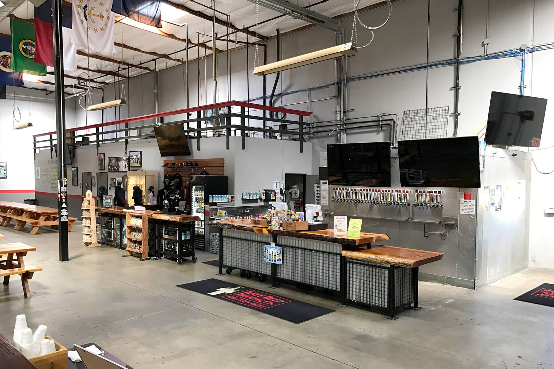 Inside the Knee Deep Brewing Co. taproom in Auburn, California