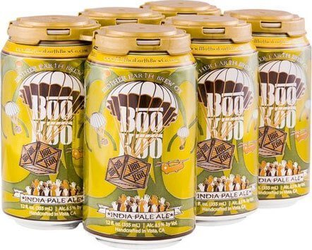 Packaging art for the Boo Koo IPA by Mother Earth Brew Co.