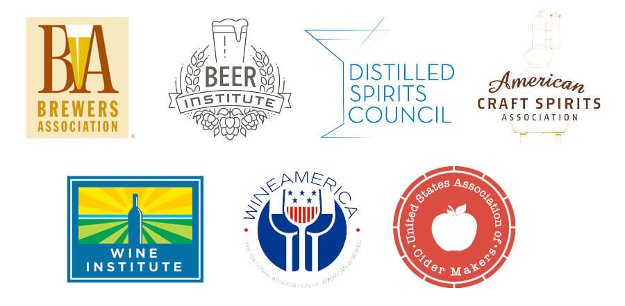 The Craft Beverage Modernization and Tax Reform Act is supported by the Beer Institute, craft brewers' trade group the Brewers Association, the Distilled Spirits Council of the United States, American Craft Spirits Association, Wine Institute, Wine America, the U.S. Association of Cider Makers and the American Mead Makers Association