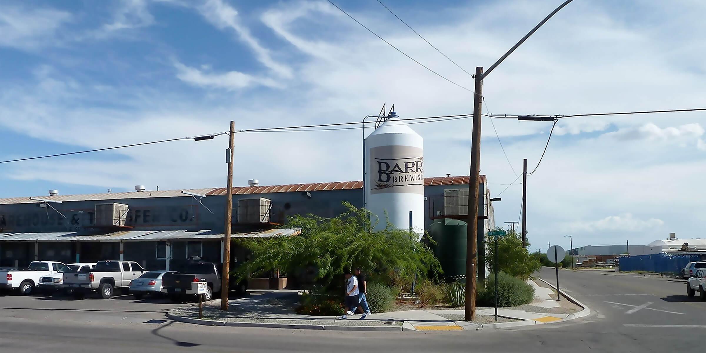 Outside Barrio Brewing Co. in Tuscon, Arizona