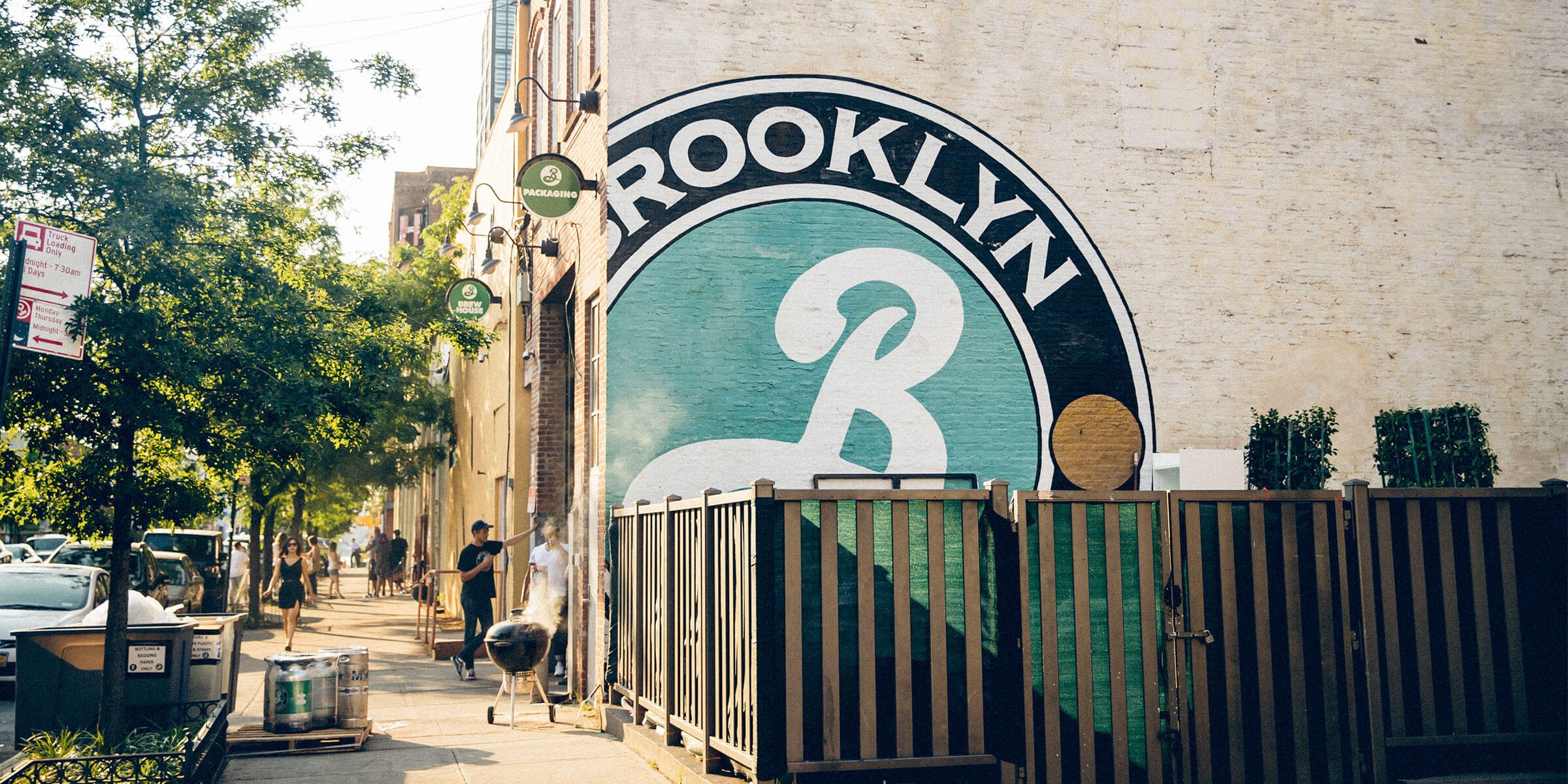 Outside the Brooklyn Brewery in Brooklyn, New York