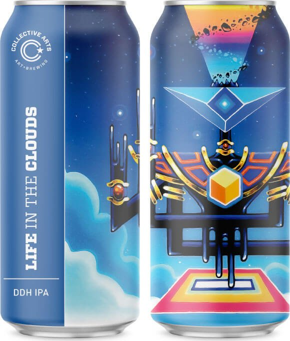 Label art for the Life In The Clouds by Collective Arts Brewing