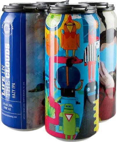 Packaging art for the Life In The Clouds by Collective Arts Brewing