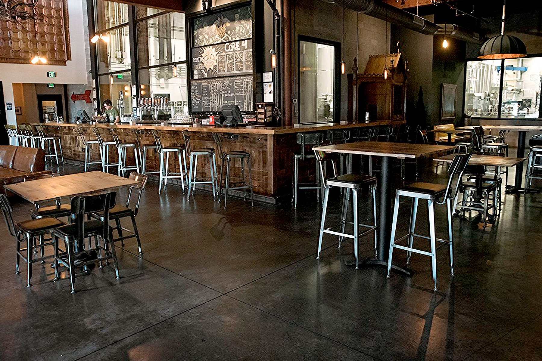 Inside the taproom at Coppertail Brewing Co. in Tampa, Florida