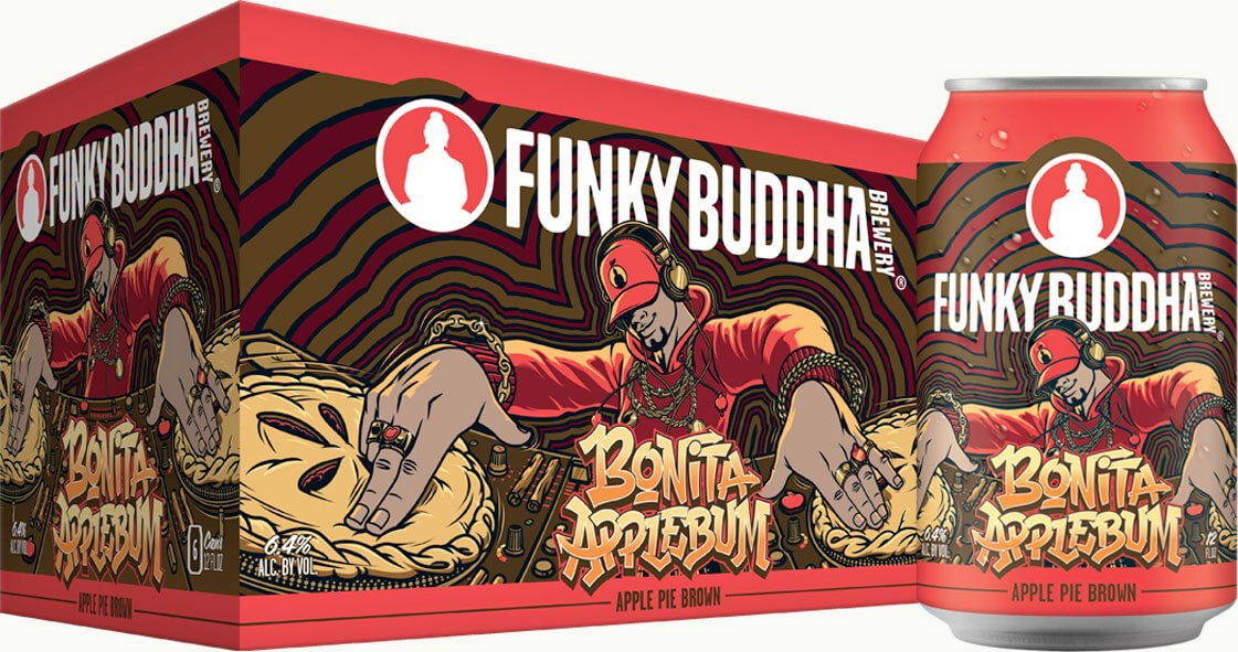 Packaging art for the Bonita Applebum by Funky Buddha Brewery
