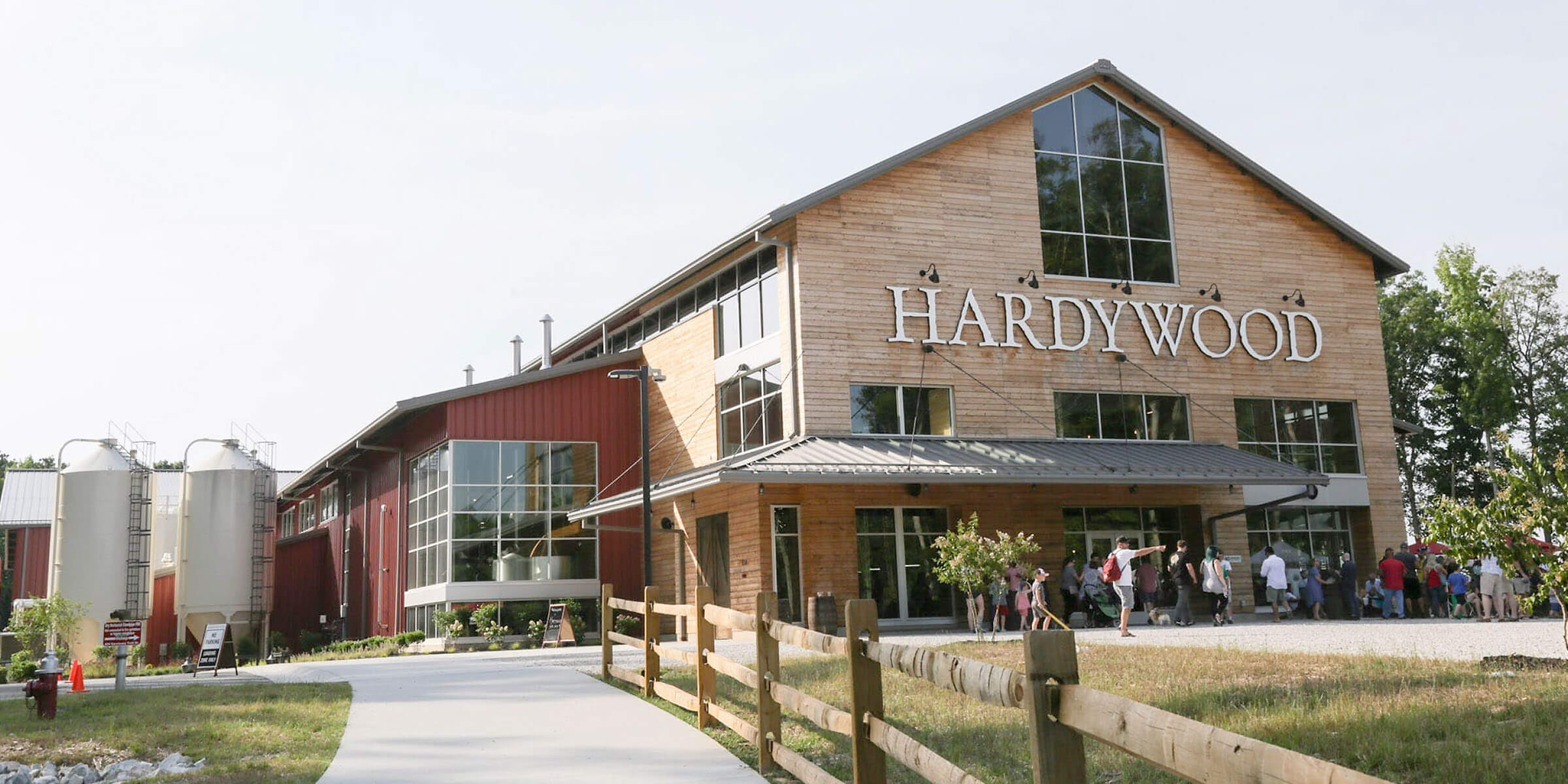 Outside the Hardywood Park Craft Brewery production facility in Richmond, Virginia