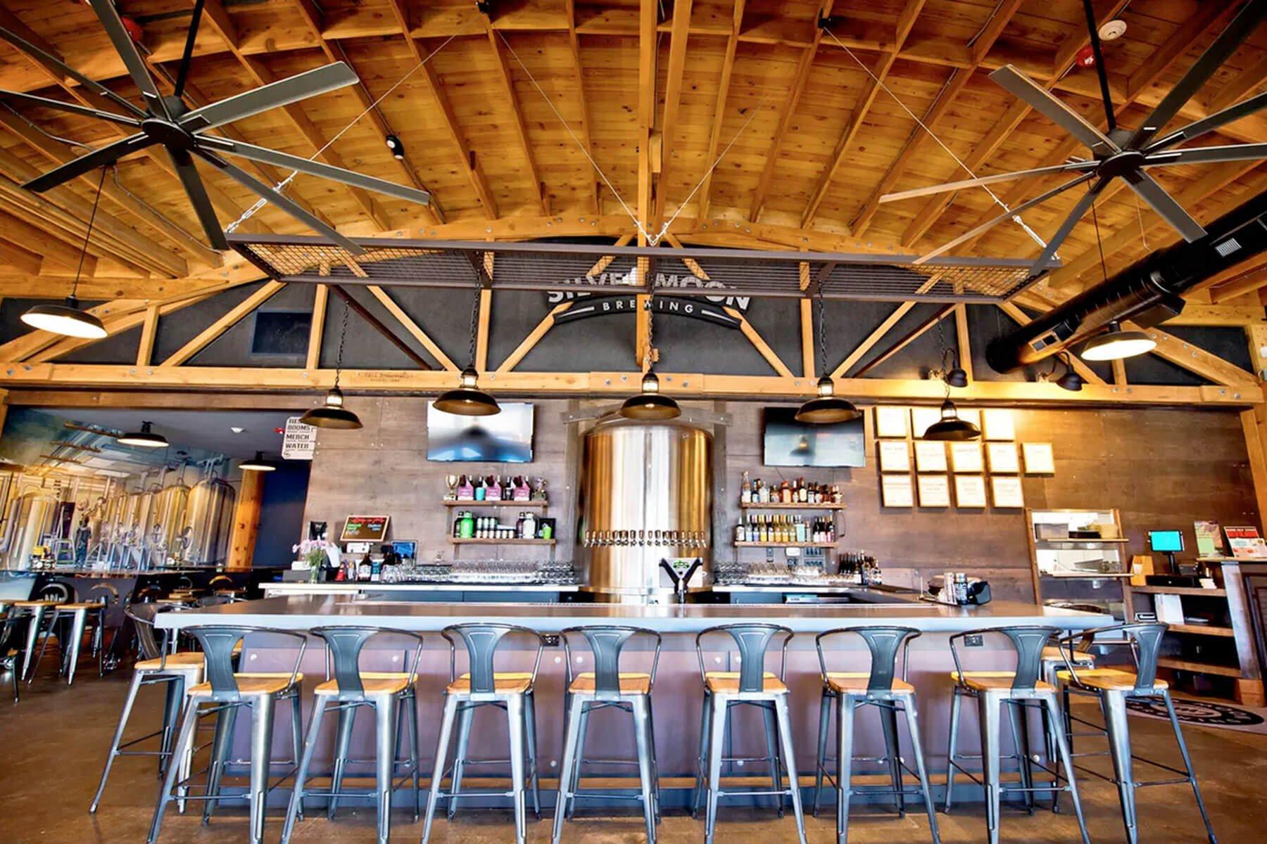 Inside the taproom at Silver Moon Brewing in Bend, Oregon