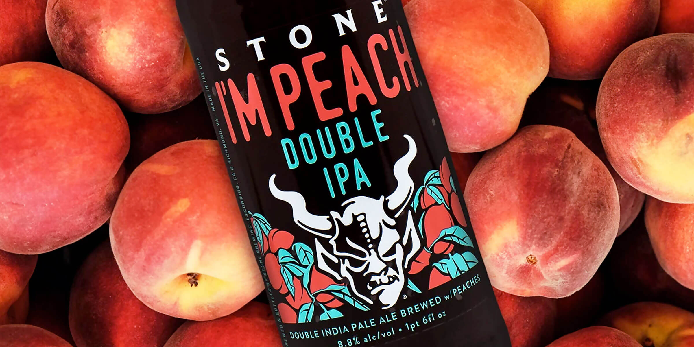 """Stone Brewing recently re-released """"I'm Peach"""" and it's gained popularity over the past week as its name is similar to another oft-spoken word: impeach."""