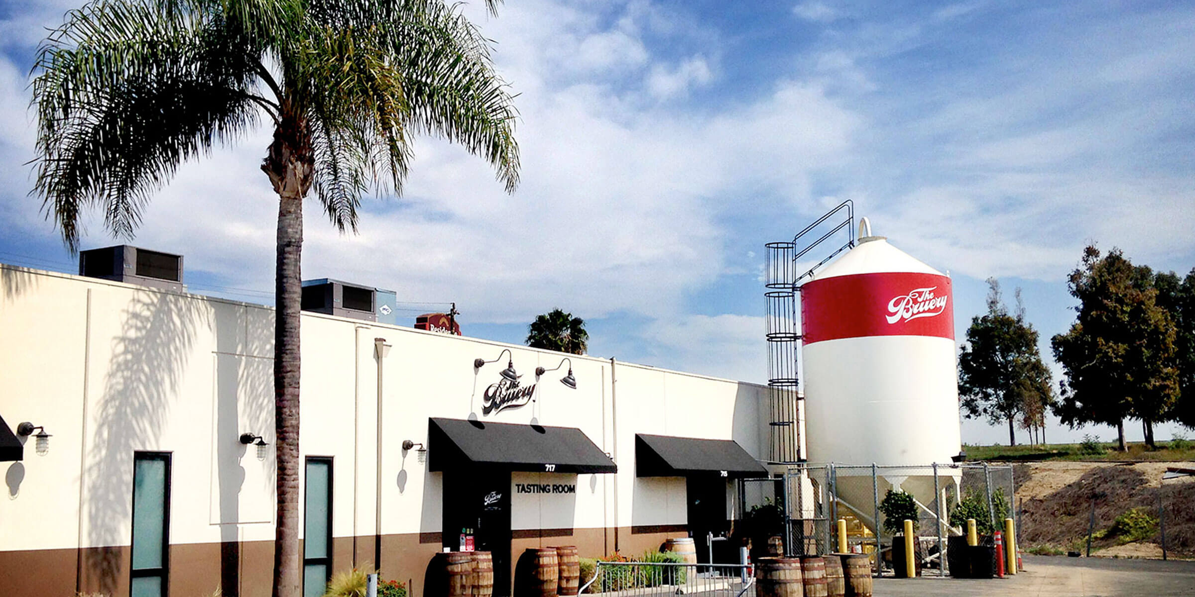 Outside The Bruery tasting room in Placentia, California