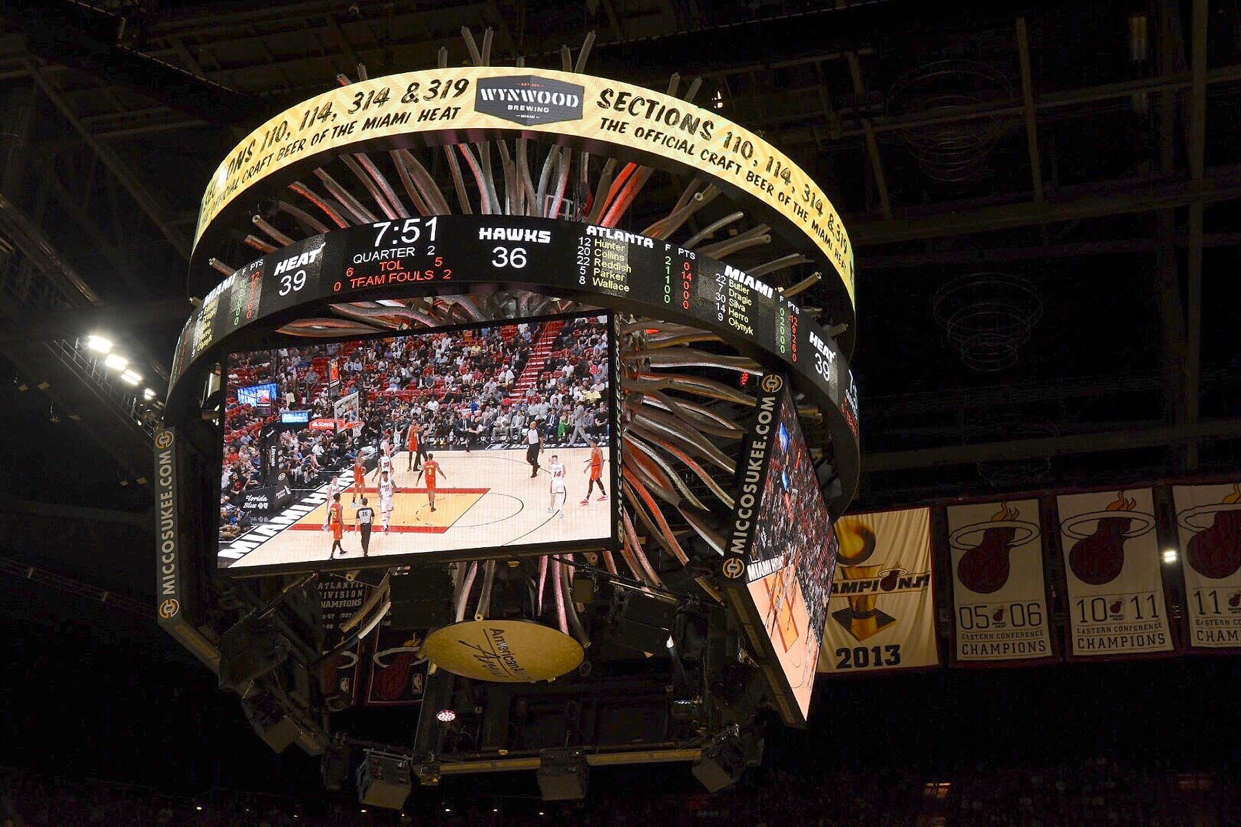 Miami HEAT fans can enjoy Wynwood Brewing beers from beer carts at AmericanAirlines Arena sections 110, 114, 314, and 319.
