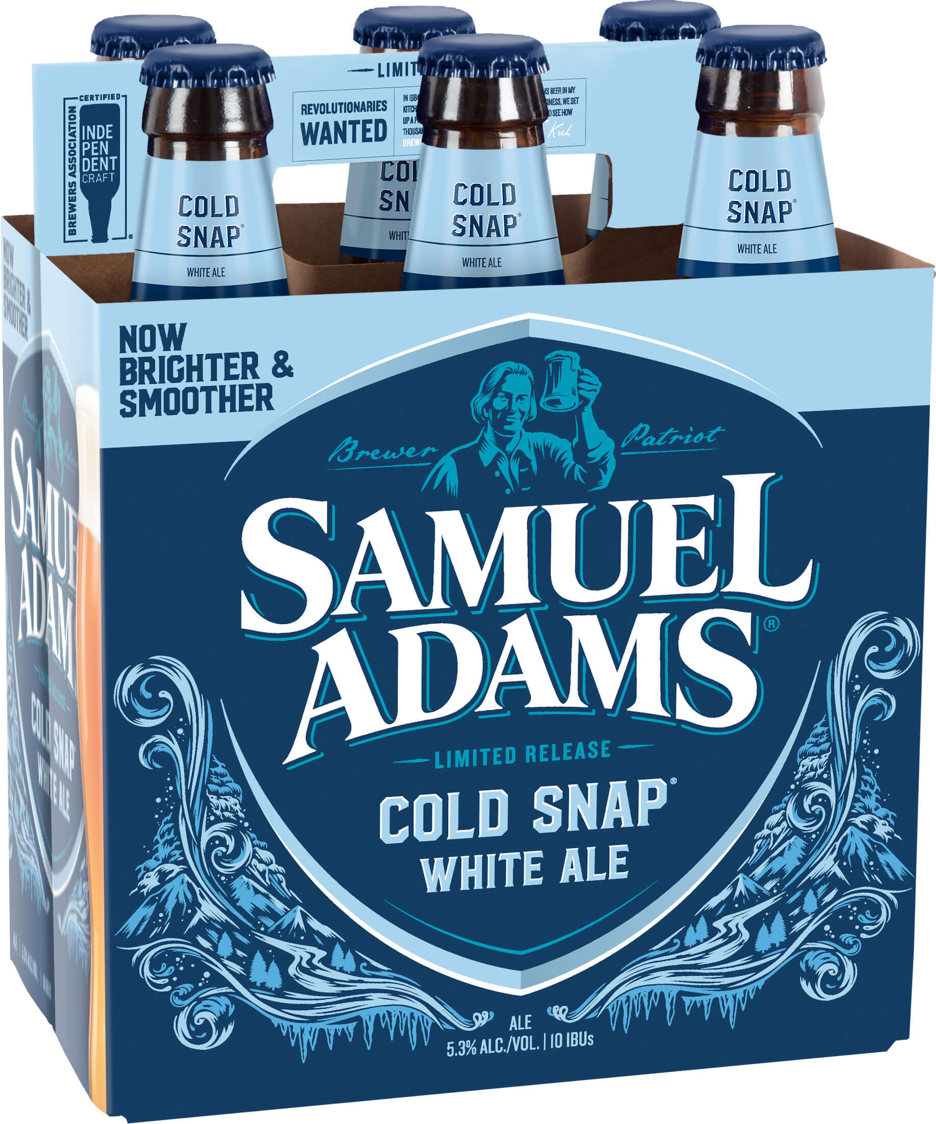Packaging art for the Samuel Adams Cold Snap by Boston Beer Company