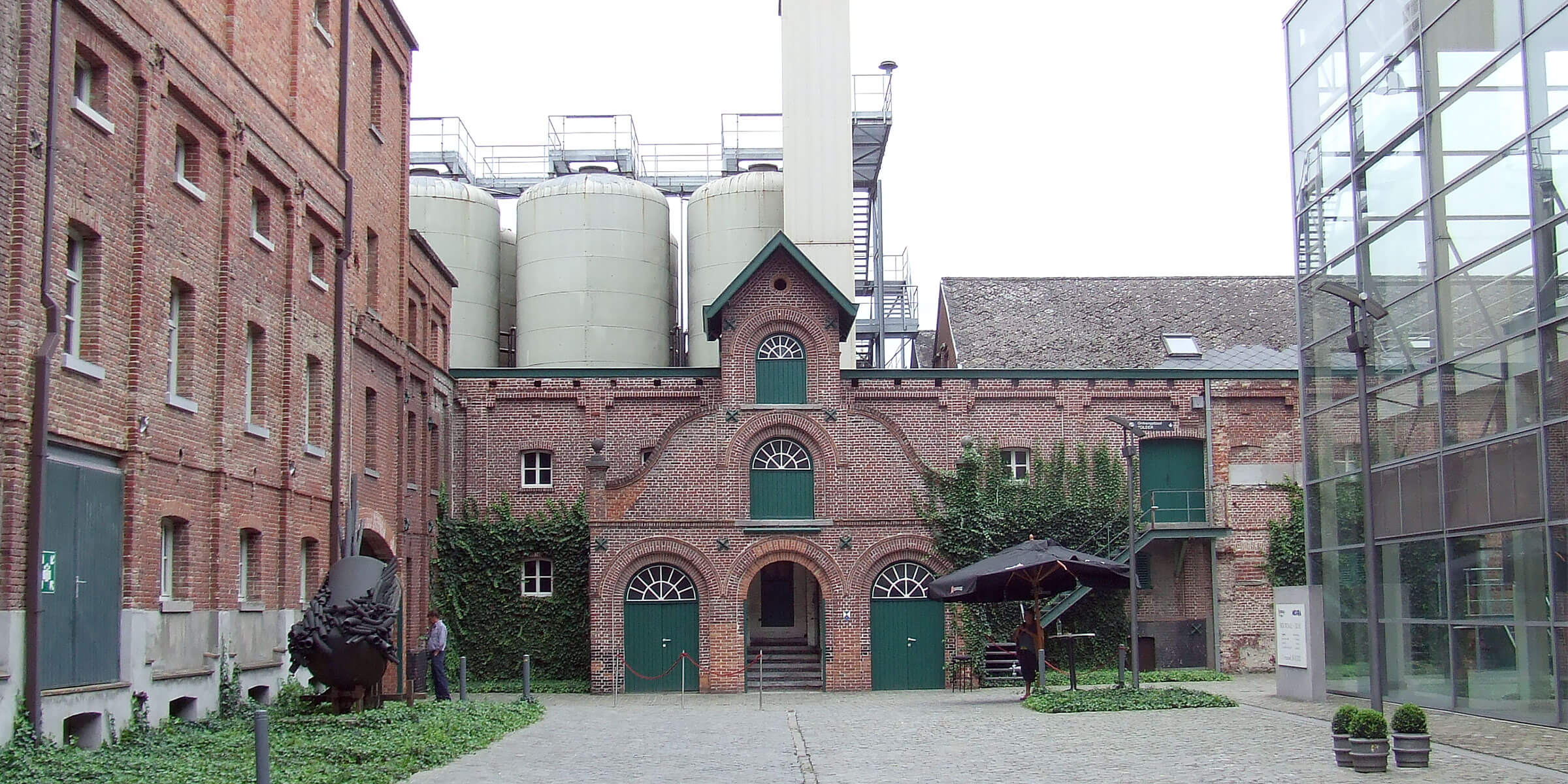 Outside the Brouwerij Rodenbach in Roeselare, Belgium