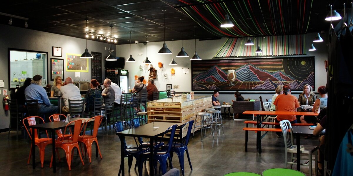Inside the taproom at the CraftHaus Brewery location in Henderson, Nevada