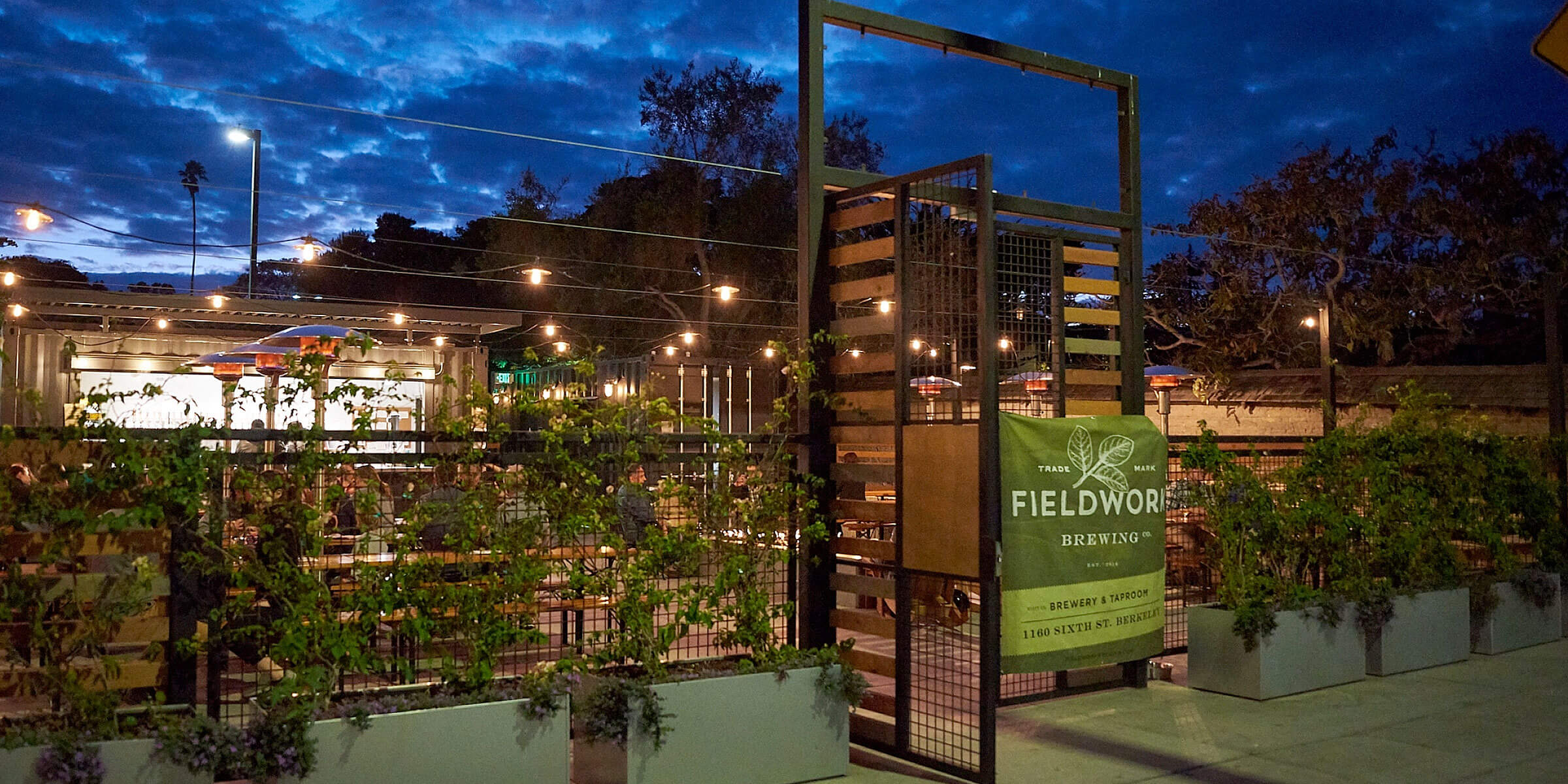 Outside the taproom at the Fieldwork Brewing Company location in Berkeley, California
