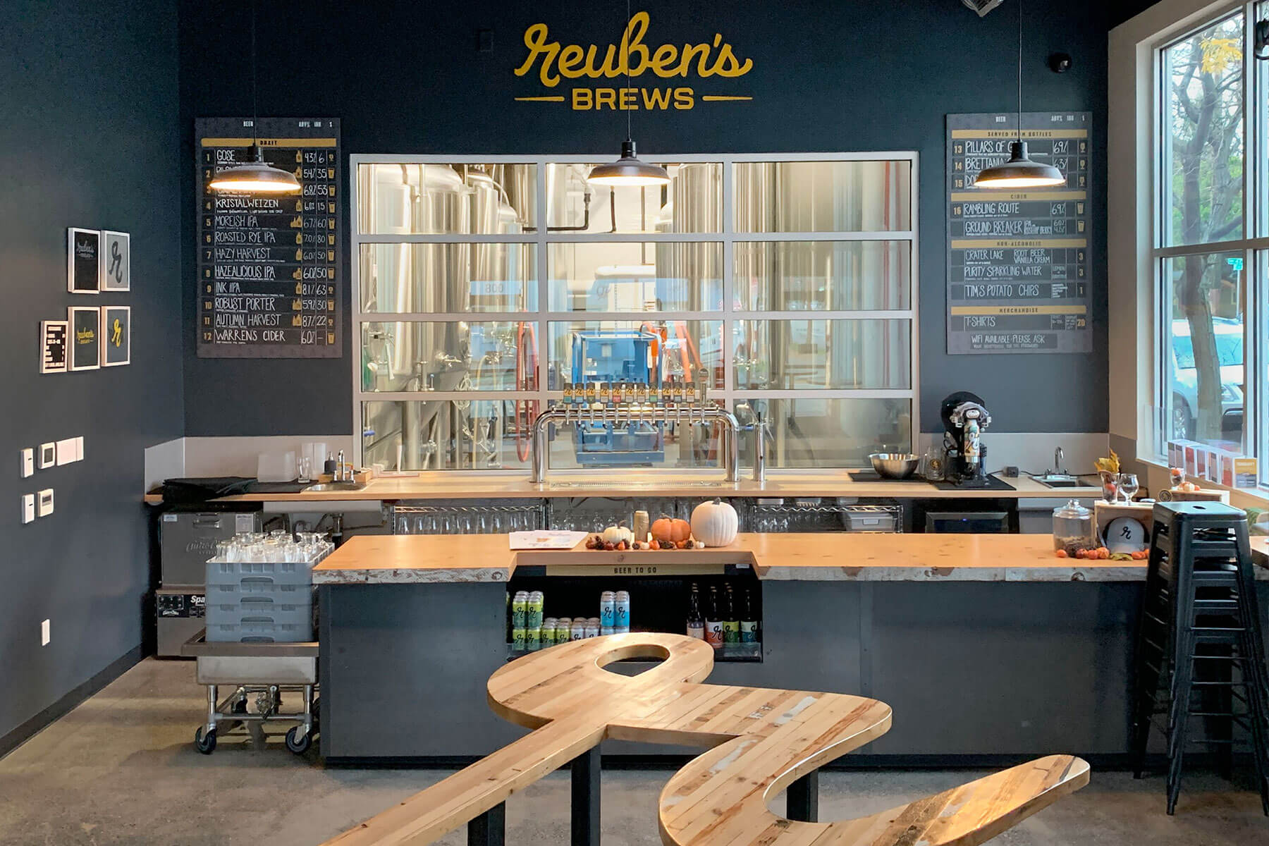 Inside the Reuben's Brews taproom in Seattle, Washington