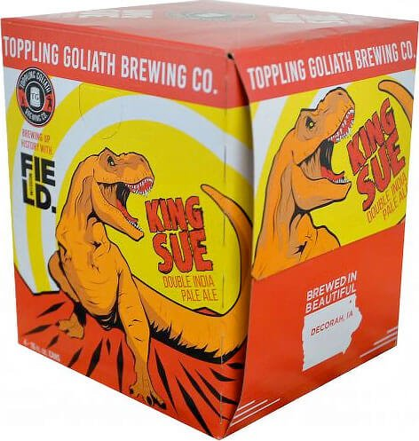 Packaging art for the King Sue by Toppling Goliath Brewing Co.