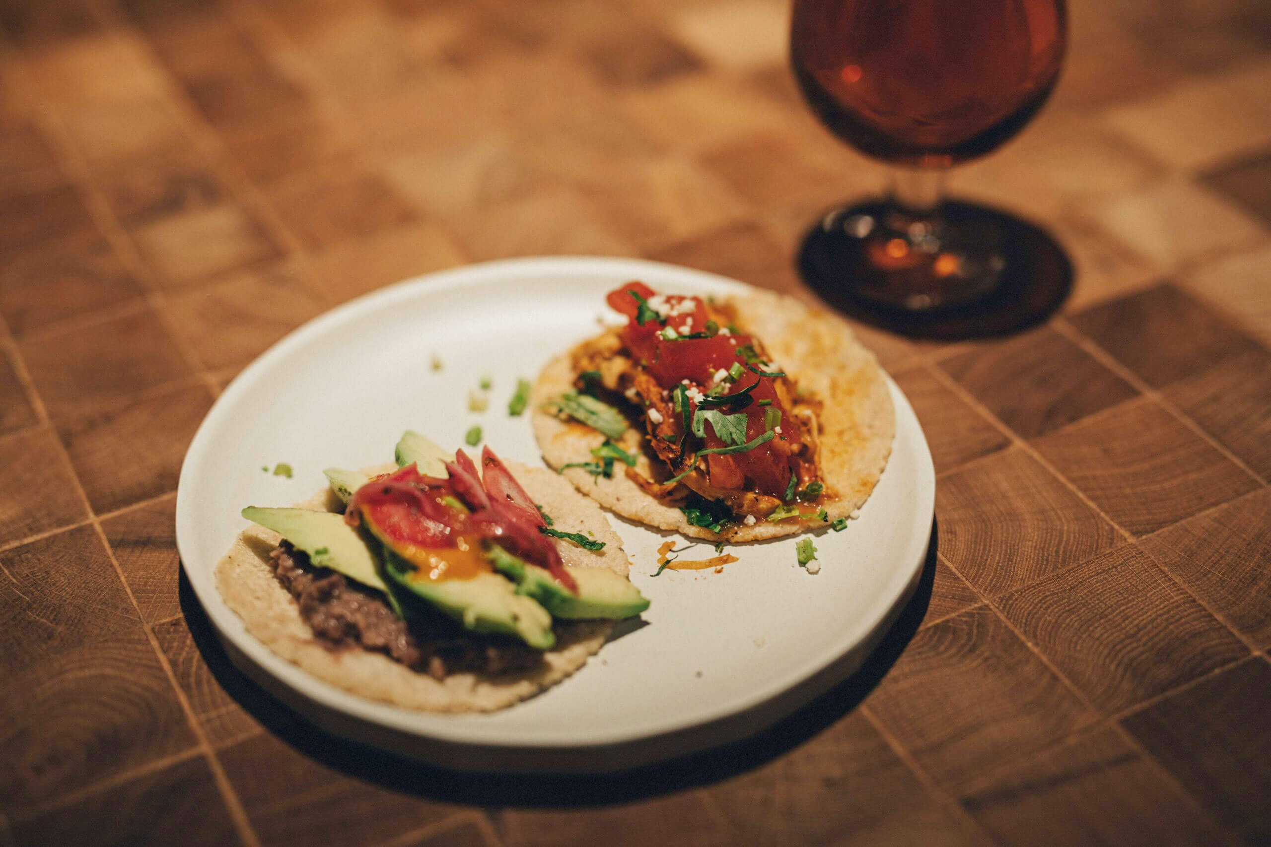 Mexican street tacos are some of the snacks you can enjoy in B at K5