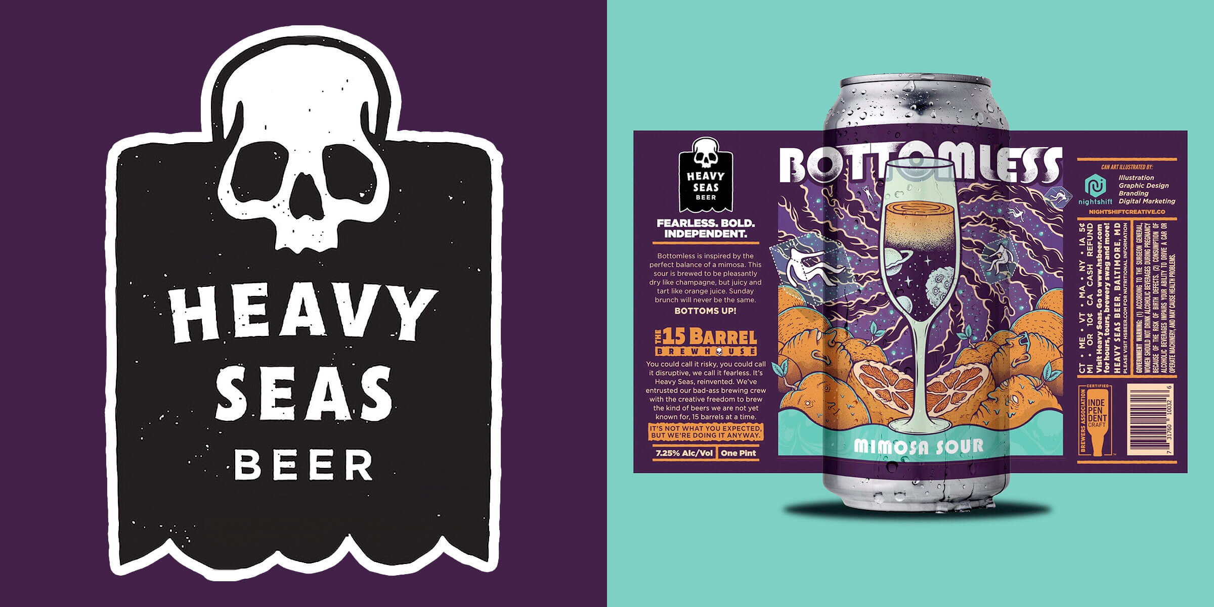Heavy Seas Beer is excited to announce the second release from its 15 Barrel Brewhouse in 2020, Bottomless, a Mimosa Sour.