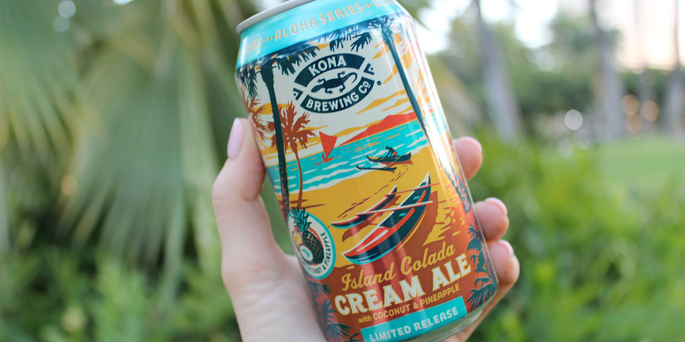 Kona Brewing Co.'s new Island Colada Cream Ale is a tropical cream ale that brings the flavors of Hawaii to the mainland and throughout the islands.