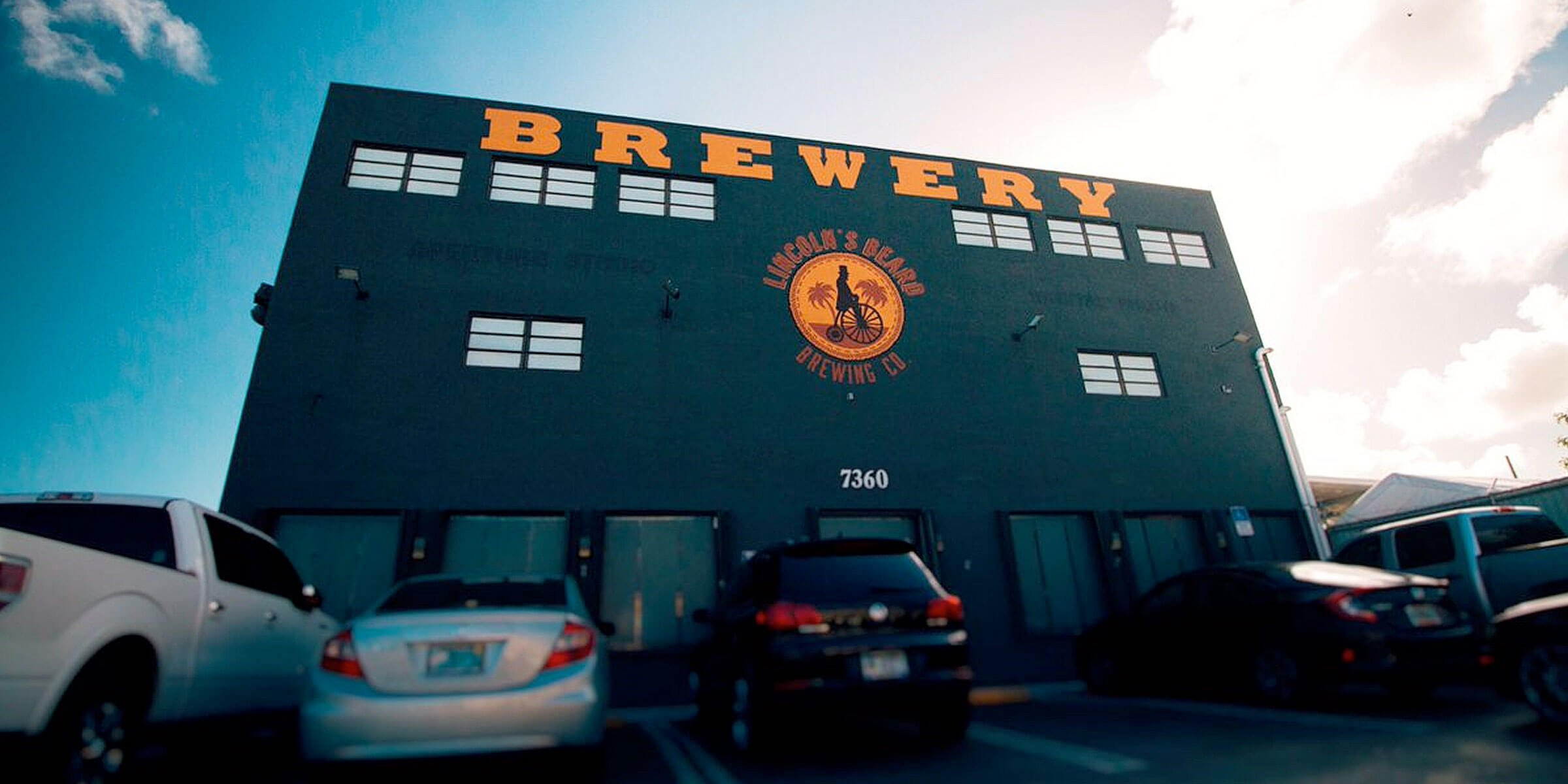 Outside the Lincoln's Beard Brewing Co. brewery in Miami, Florida