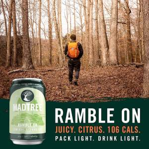 MadTree Brewing Company is releasing Ramble On, a new IPA packed with juicy citrus and only 106 calories, beginning March 2, 2020.