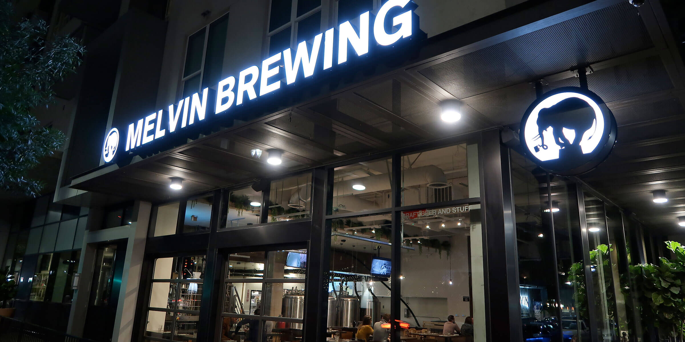 Outside the former Melvin Brewing taproom in San Diego, California