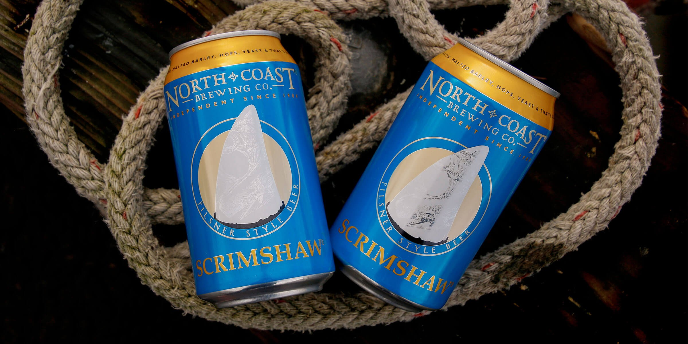 North Coast Brewing Co. released its first beer can of its best-selling pilsner, Scrimshaw, for distribution throughout California and other places to come.