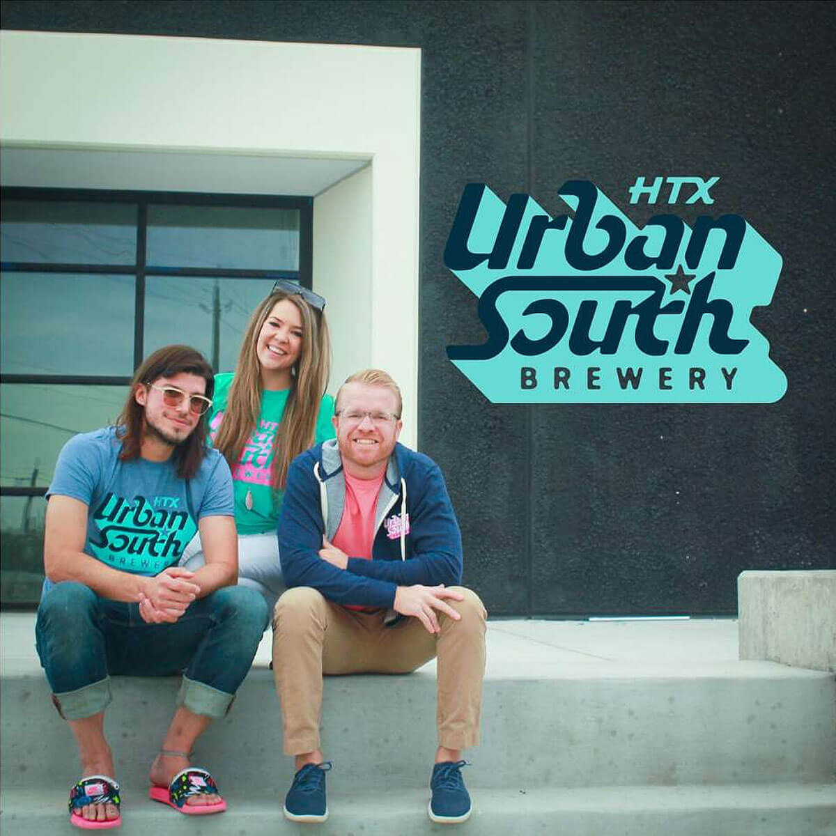 The team leading Urban South Brewery HTX is R&D Brewer Justin Slanina, his wife and Taproom and Marketing Manager Marin Slanina, and General Manager and Brewer Dave Ohmer