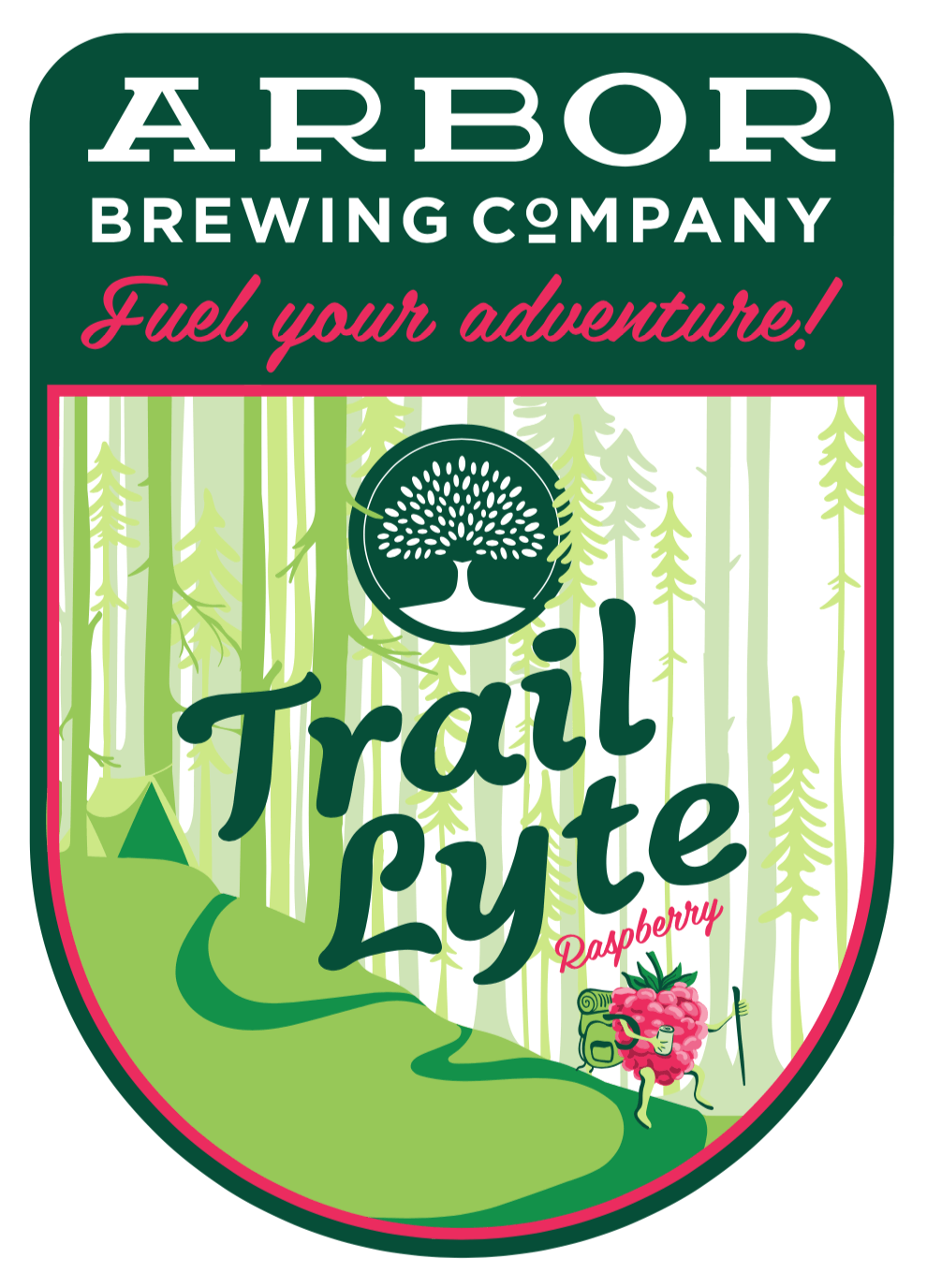 Label art for the Trail Lyte by Arbor Brewing Company