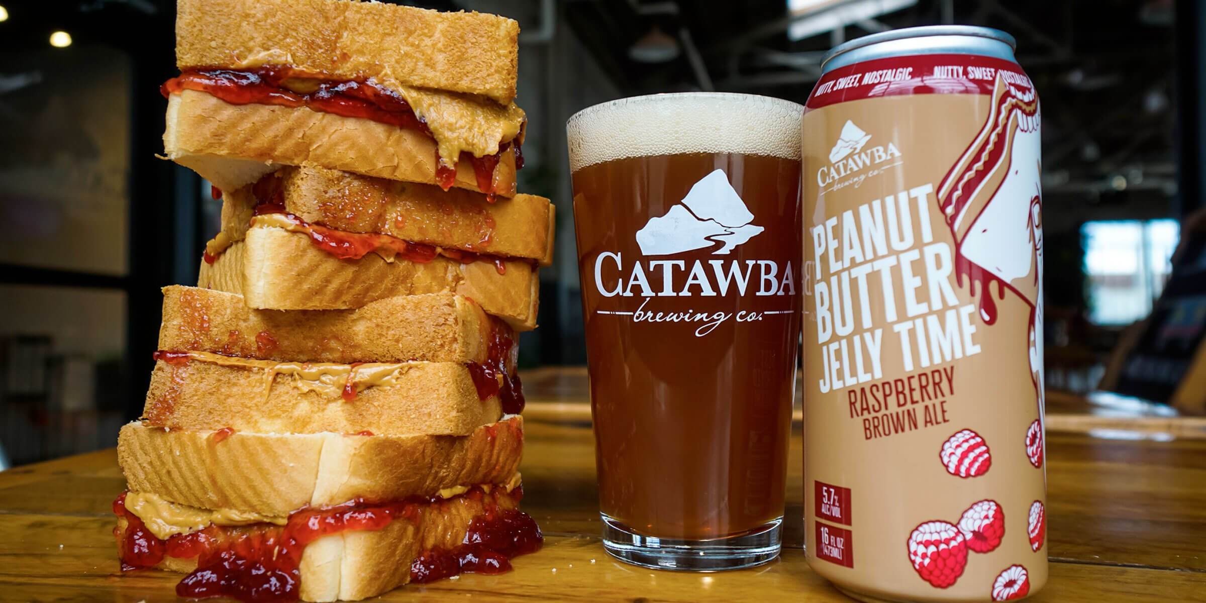 Catawba Brewing Co.'s legendary Peanut Butter Jelly Time peanut butter beer will make its annual return to the Catawba menu March 6th.