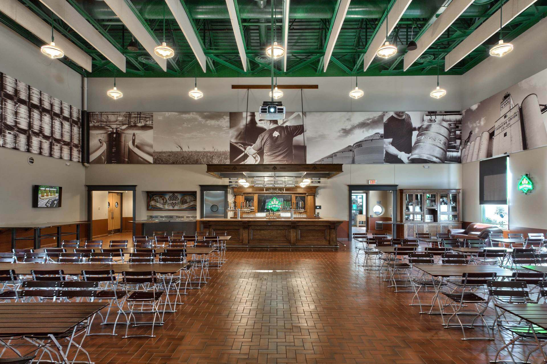 Inside the Summit Brewing Co. Ratskeller taproom in St. Paul, Minnesota