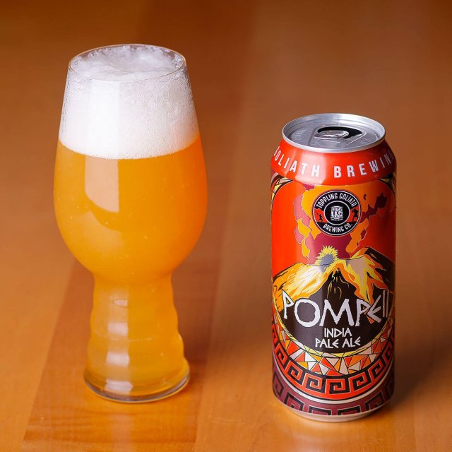 Pompeii IPA is a New England-style IPA by Toppling Goliath Brewing Co. that has juicy citrus and tropical fruit and a bready malt backbone.