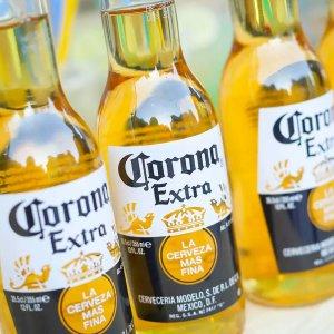12 oz. bottles of Corona Extra by Cervecería Modelo, part of Constellation Brands