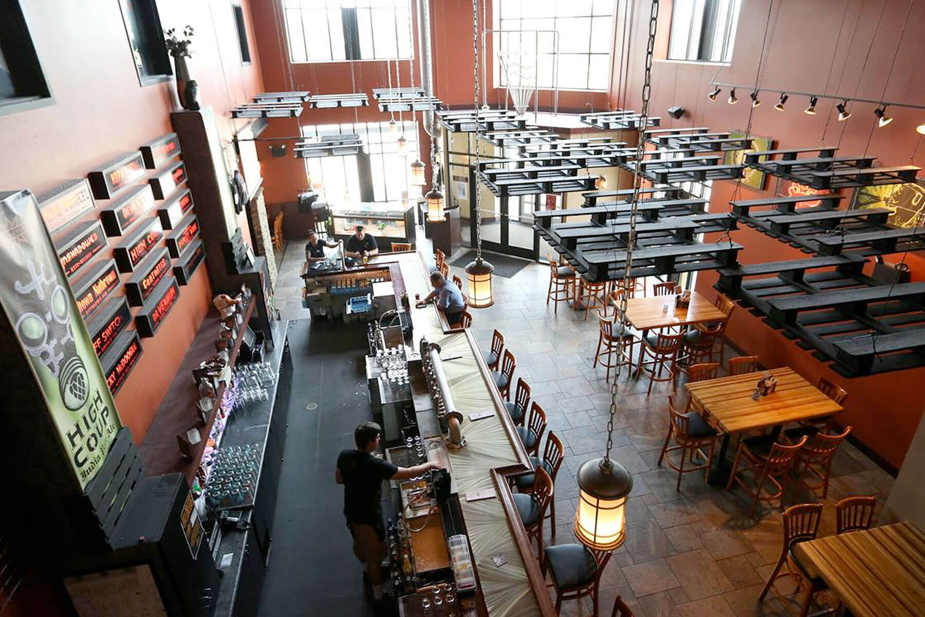 Inside the taproom at Ale Asylum in Madison, Wisconsin