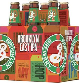 Packaging art for the Brooklyn East IPA by Brooklyn Brewery