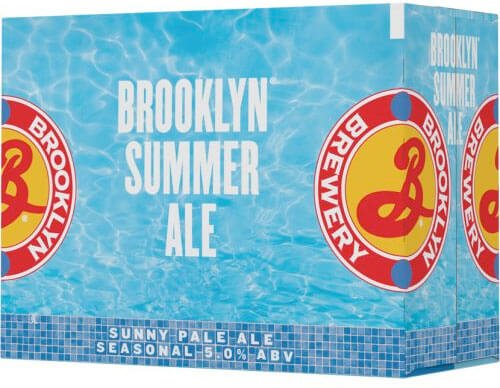 Packaging art for the Brooklyn Summer Ale by Brooklyn Brewery