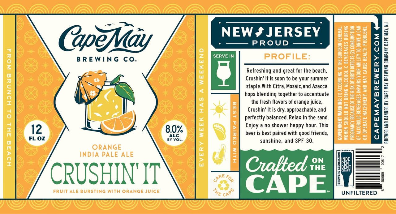 """Cape May Brewing Re-Releases """"Crushin' It"""" IPA - Absolute Beer"""
