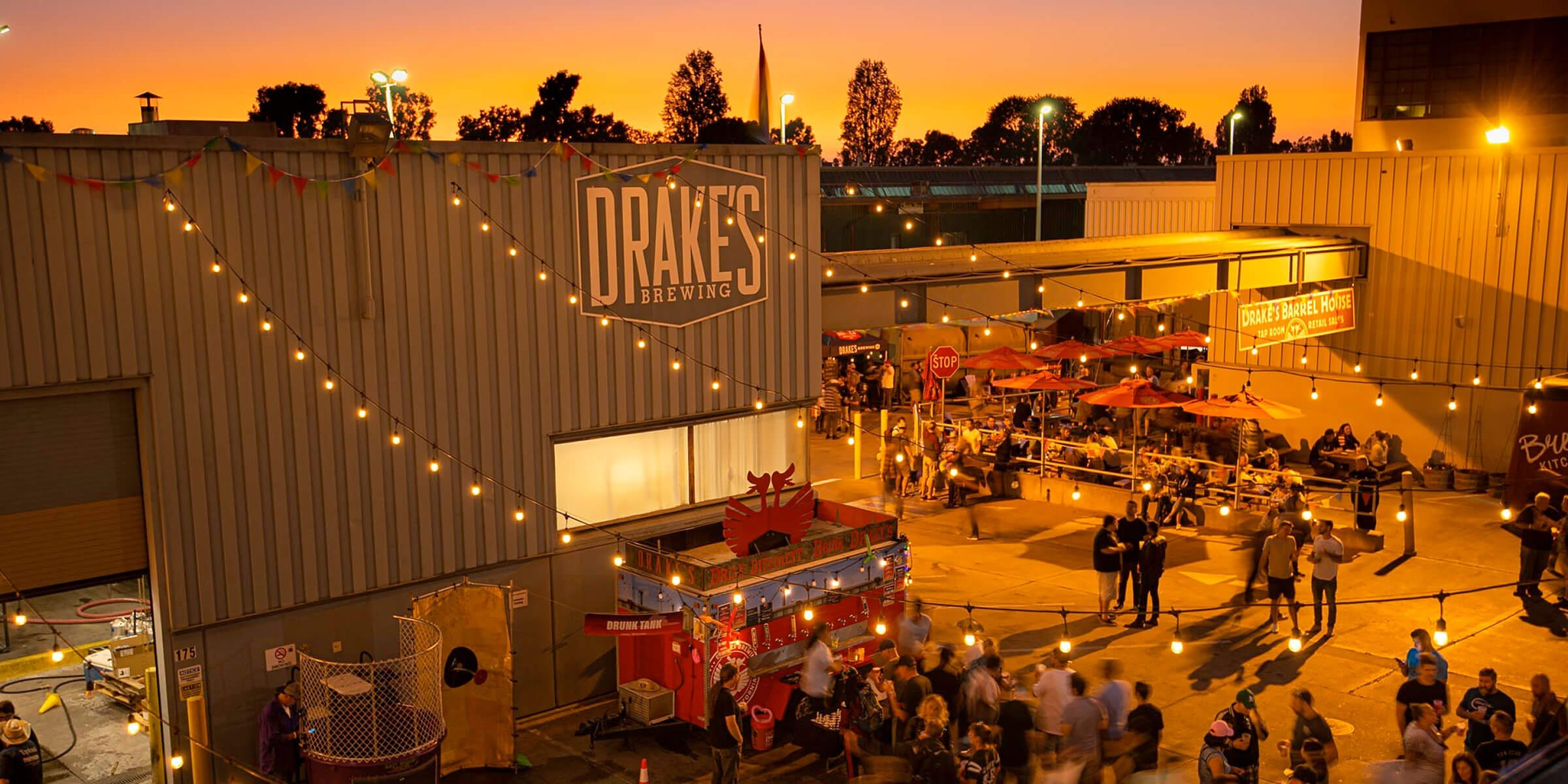Outside the Barrel House location for Drake's Brewing Co. in San Leandro, California