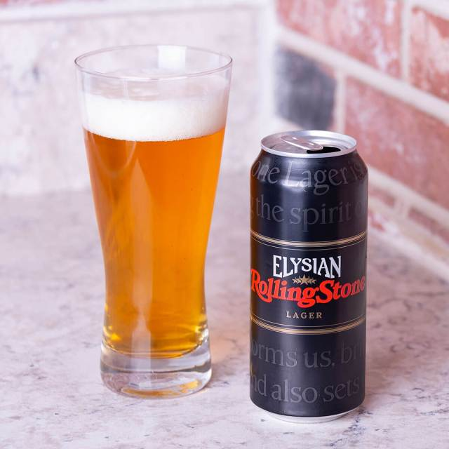 Rolling Stone Lager is an American Lager by Elysian Brewing Company that has floral and spicy hops with baked bread, orange, and caramel.