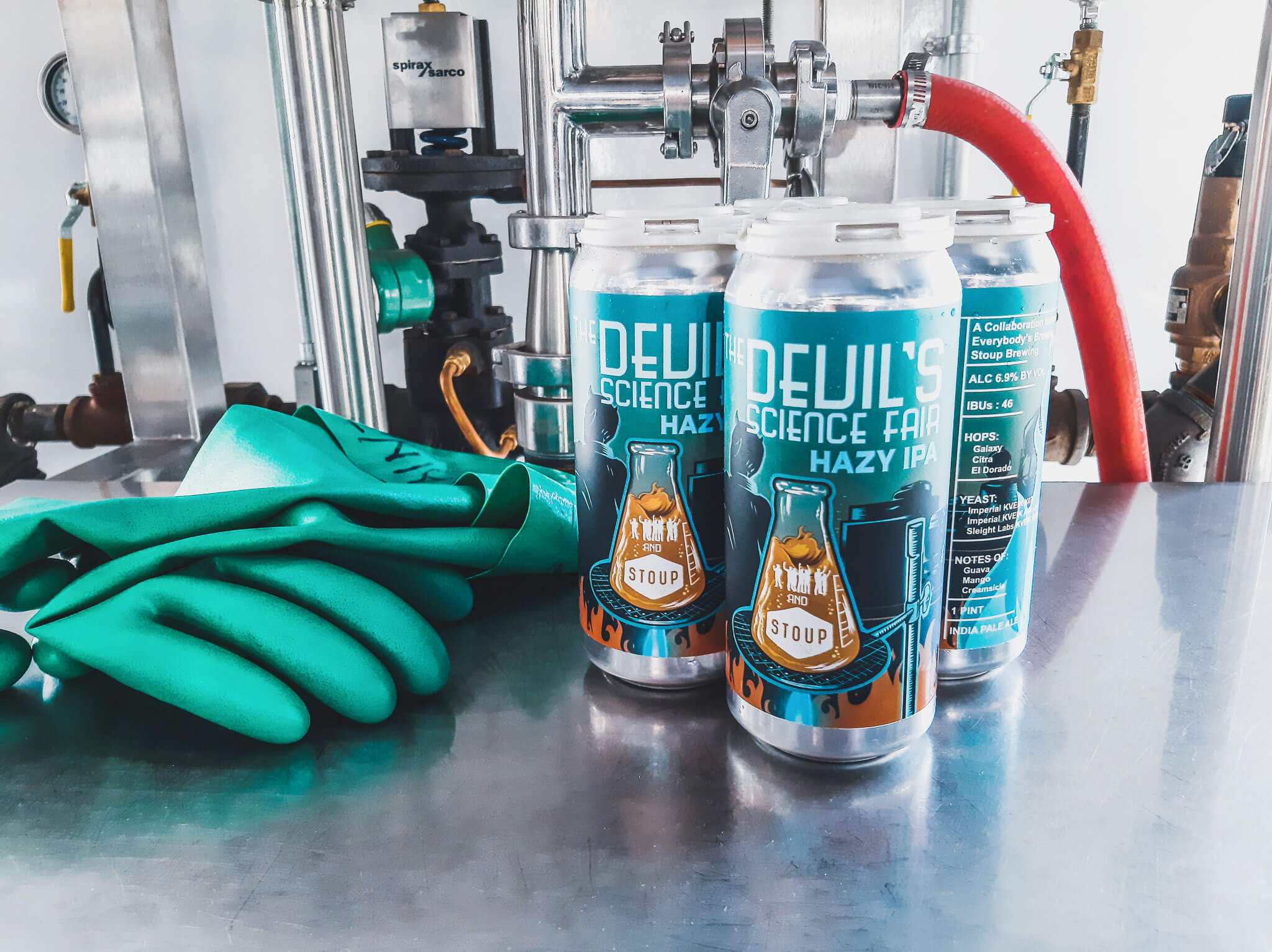 Everybody's Brewing and Stoup Brewing have collaborated on The Devil's Science Fair Hazy IPA, now available in 16 oz. cans throughout Washington and Oregon.