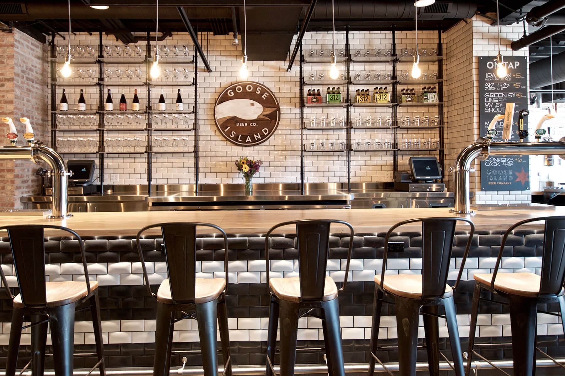 Inside the Fulton Street taproom at Goose Island Beer Co. in Chicago, Illinois
