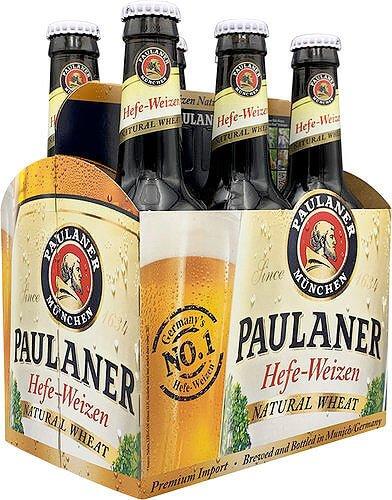 Packaging art for the Hefe-Weizen by Paulaner Brauerei München