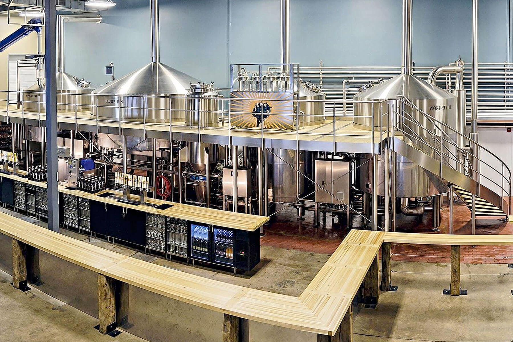 Inside the taproom and brewhouse at Tröegs Independent Brewing in Hershey, Pennsylvania