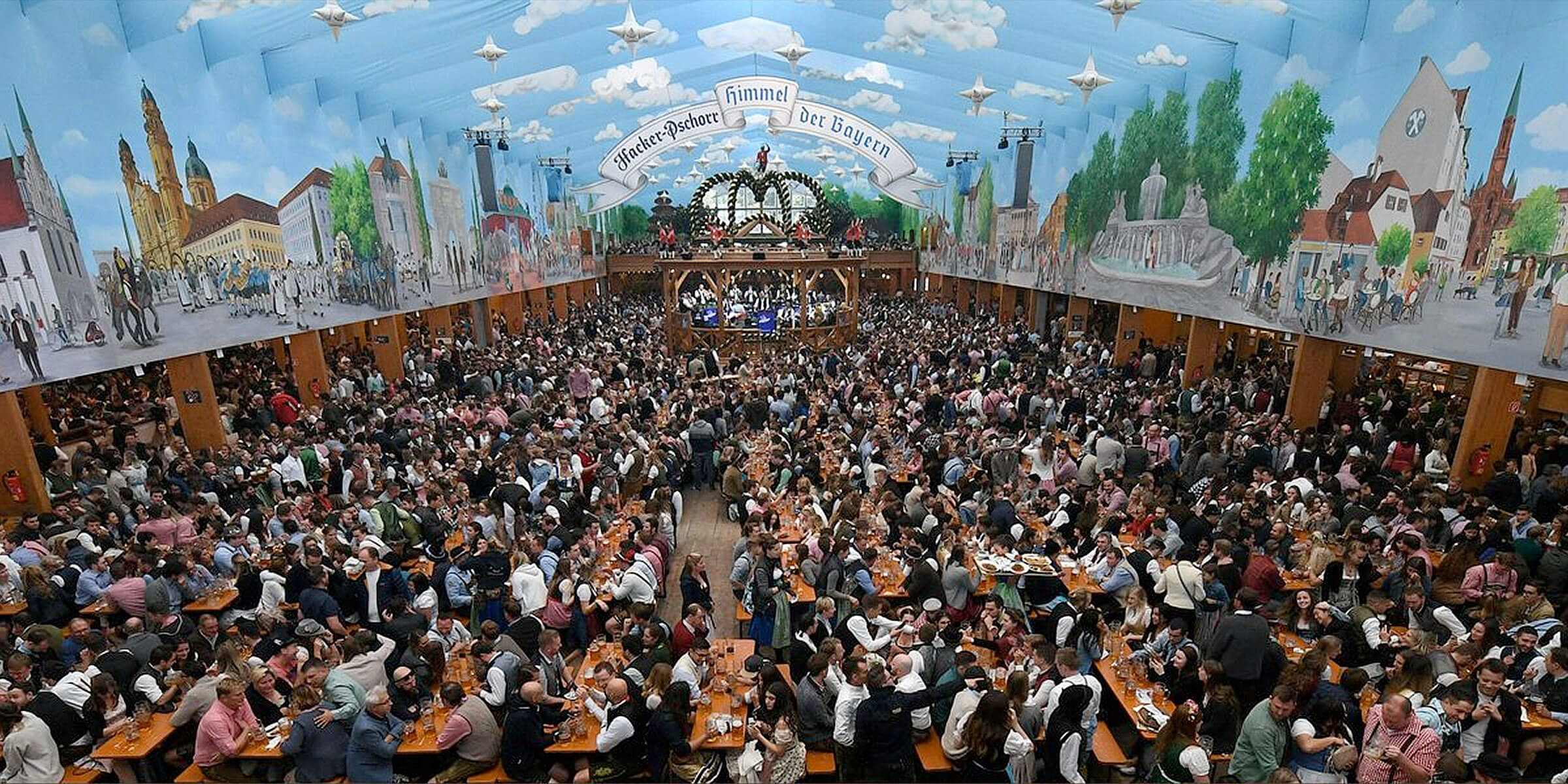 What might have been: a full festival tent at the Oktoberfest beer festival last year in Munich, Germany
