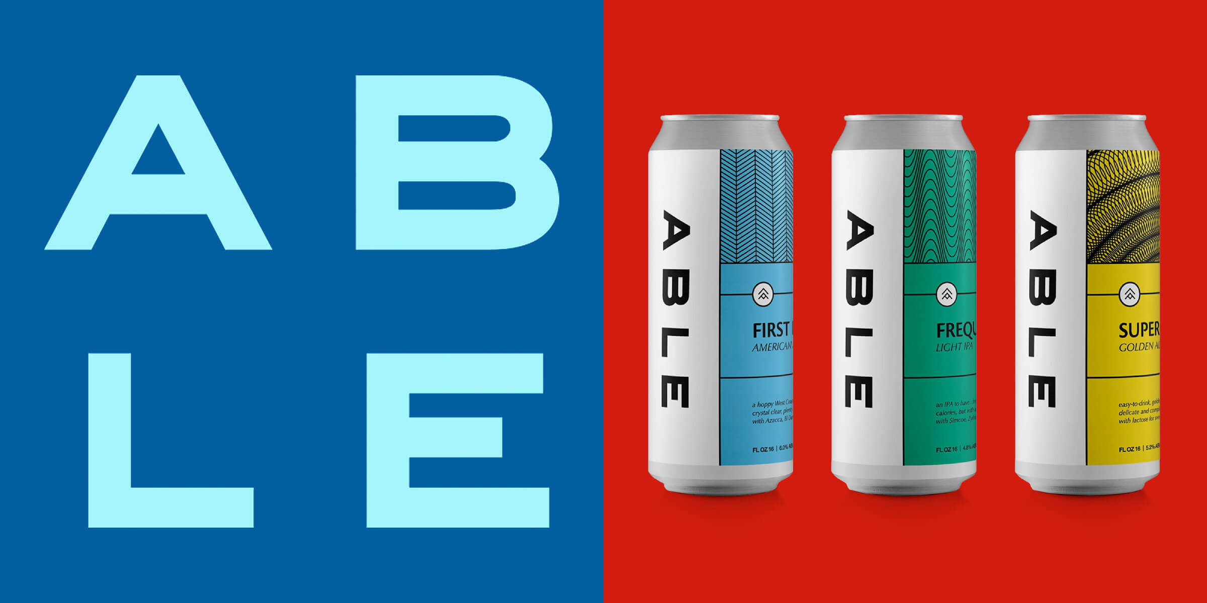 Able Seedhouse + Brewery released their trusty flagships First Light and Supergiant in 16 oz. cans alongside their newest brew: Frequency, a Session IPA.