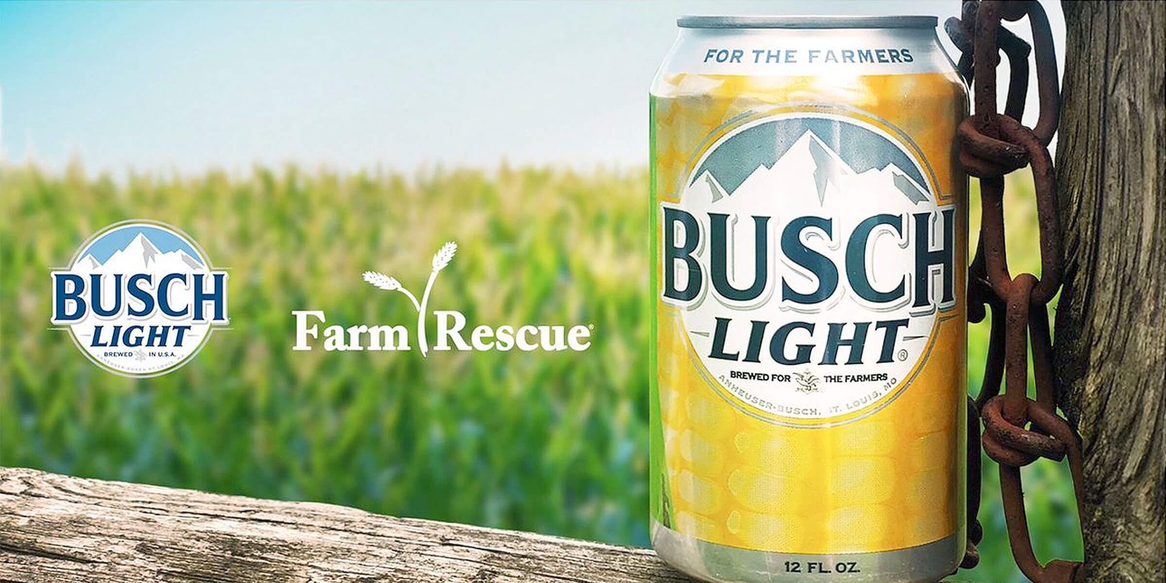Busch, a supporter of agricultural communities, will donate funds to nonprofit Farm Rescue to expand into Kansas while launching limited-edition Corn Cans.