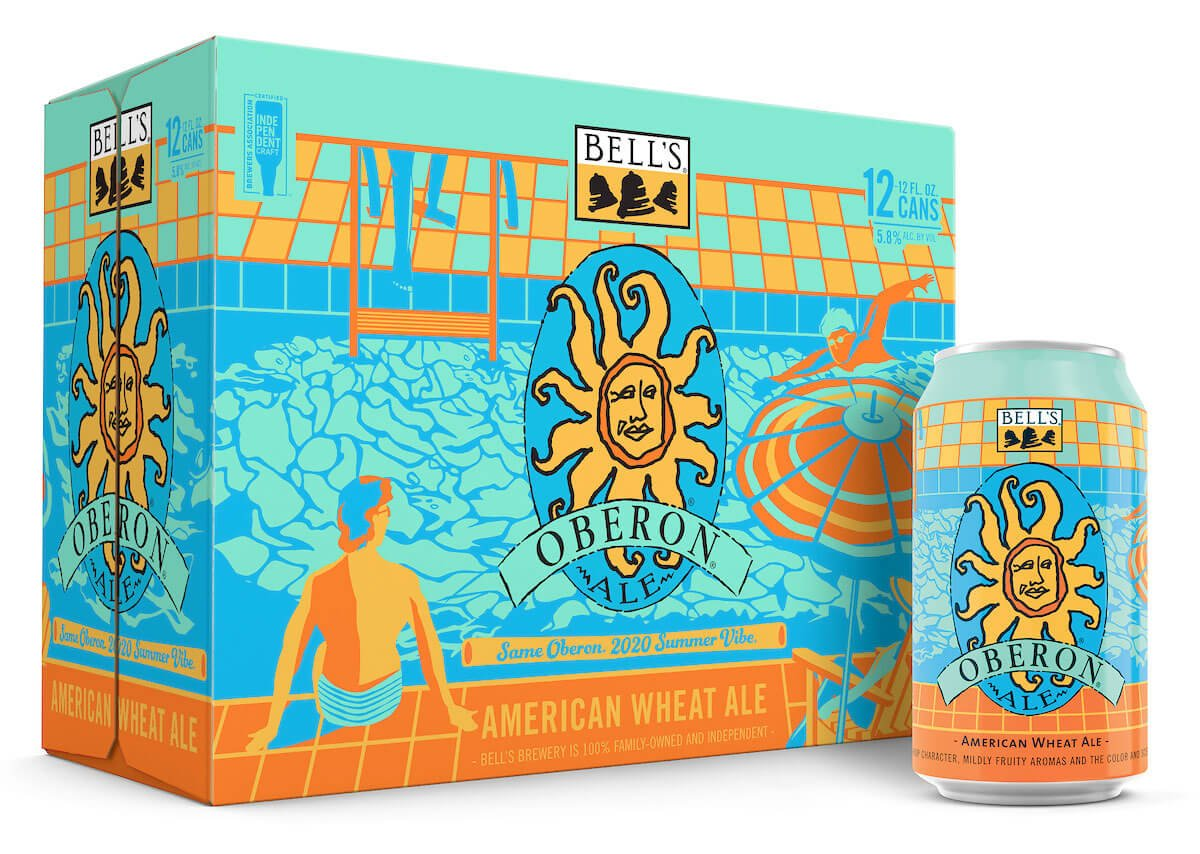 Packaging design for 12 packs of 12 oz. cans of the Oberon Ale by Bell's Brewery, Inc.